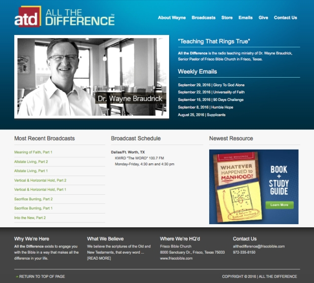 All the Difference (WordPress website design)